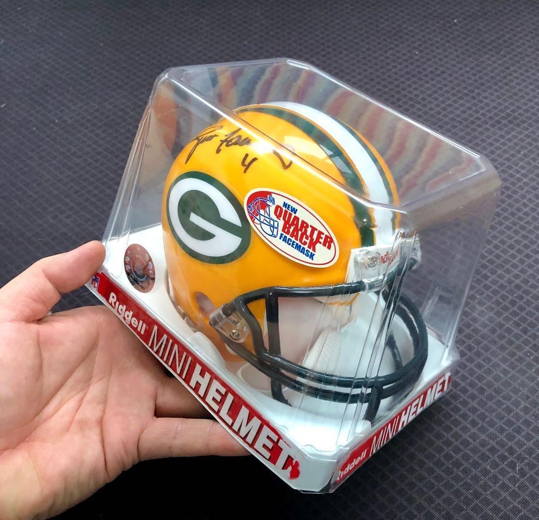 綠灣包裝工傳奇四分衛簽名迷你頭盔