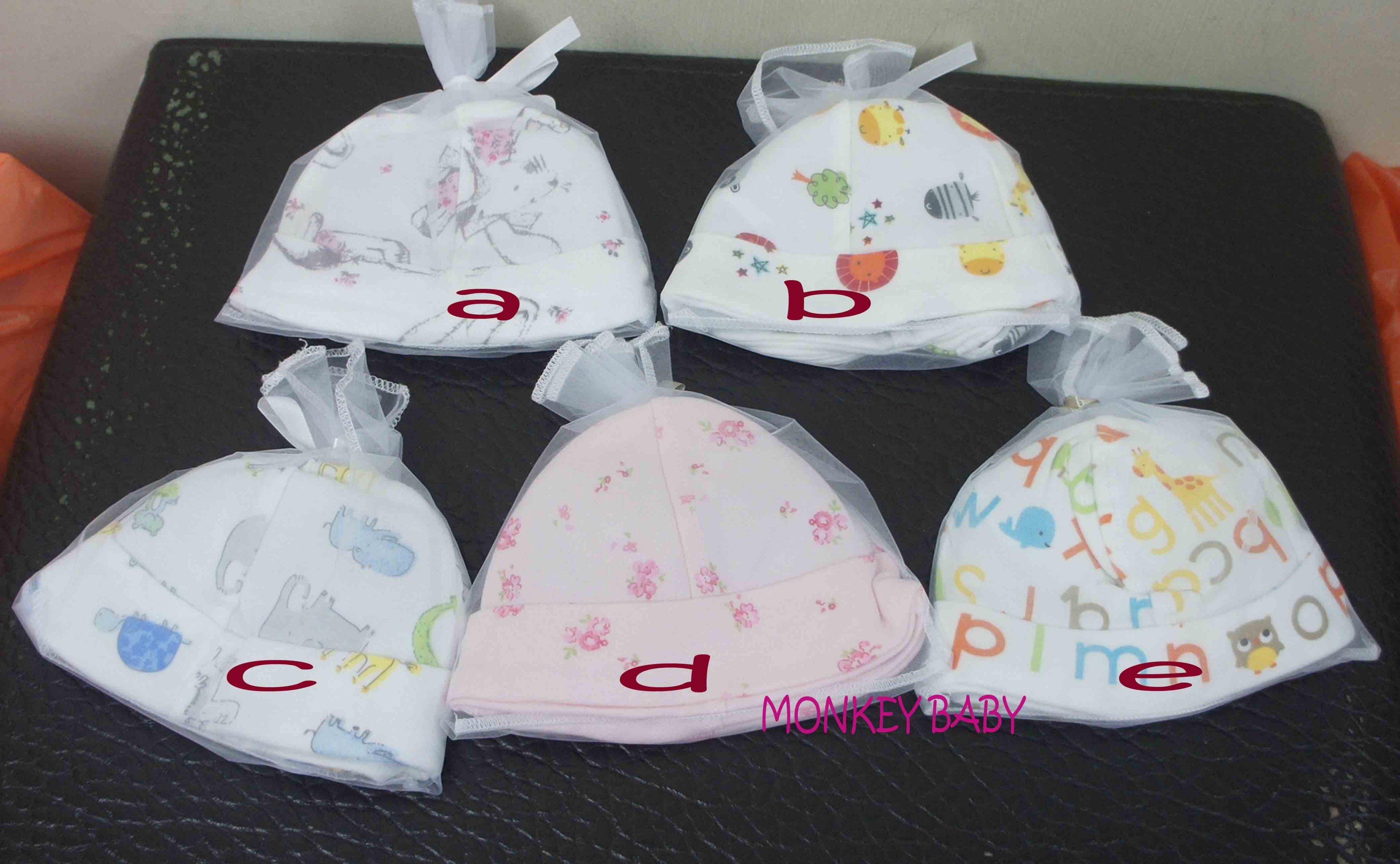 滿699免運【MONKEY BABY 】外貿純棉舒服新生兒 嬰兒帽 手套 襪套3件組多款可選