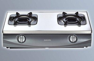 ~ 新好爐~鑄鐵爐架~櫻花牌雙內焰G5512S不鏽鋼安全台爐 舊換新G-5512S送 G5512