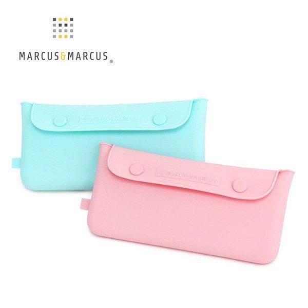 [小文的家] 【加拿大MARCUS&MARCUS 】輕巧矽膠餐具收納袋 (2色可選)