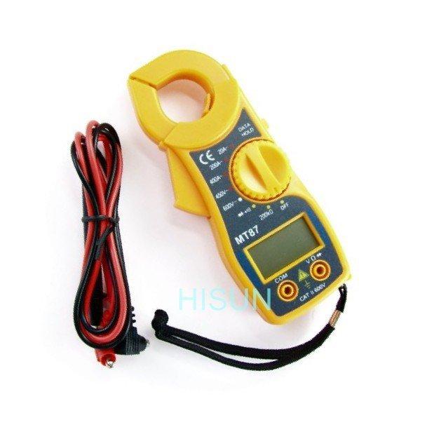 沙鹿 MT87液晶顯示 鉗夾式三用電錶 交流電表 勾錶勾表 測電池 測充電流電壓 緊急維修 帶蜂鳴