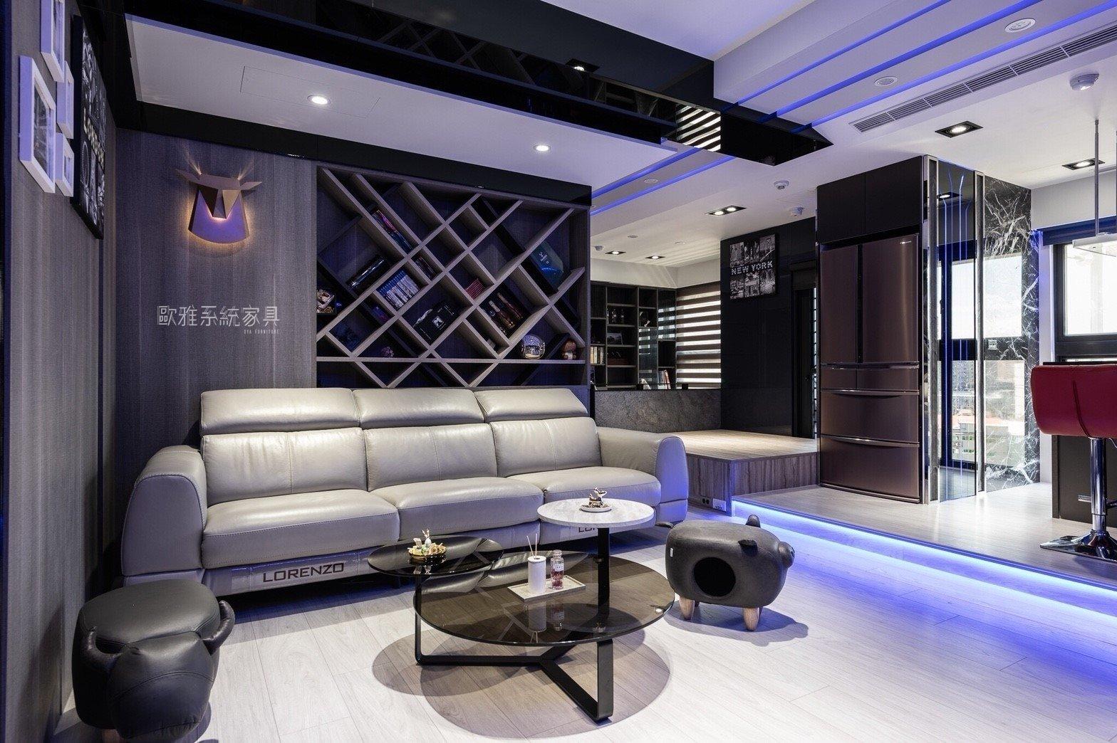 【歐雅系統家具】光與流線 時尚 客廳 吧台 更衣室 系統櫃