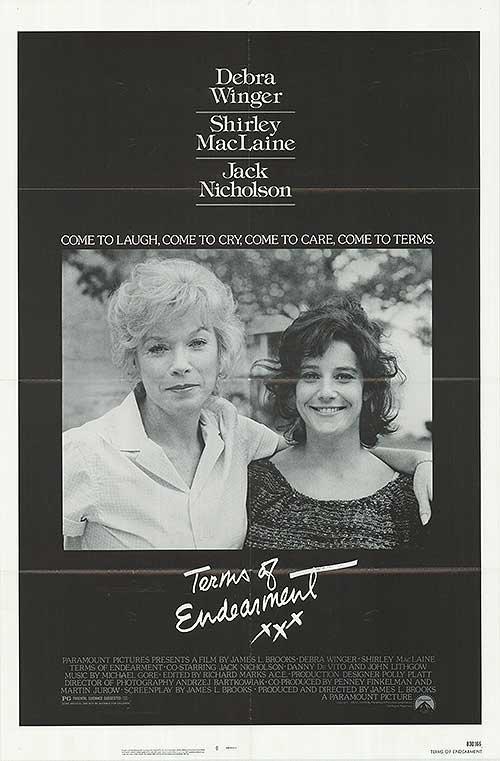 親密關係 (Terms of Endearment) - 莎莉麥克琳《公寓春光》- 美國原版電影海報(1983年)