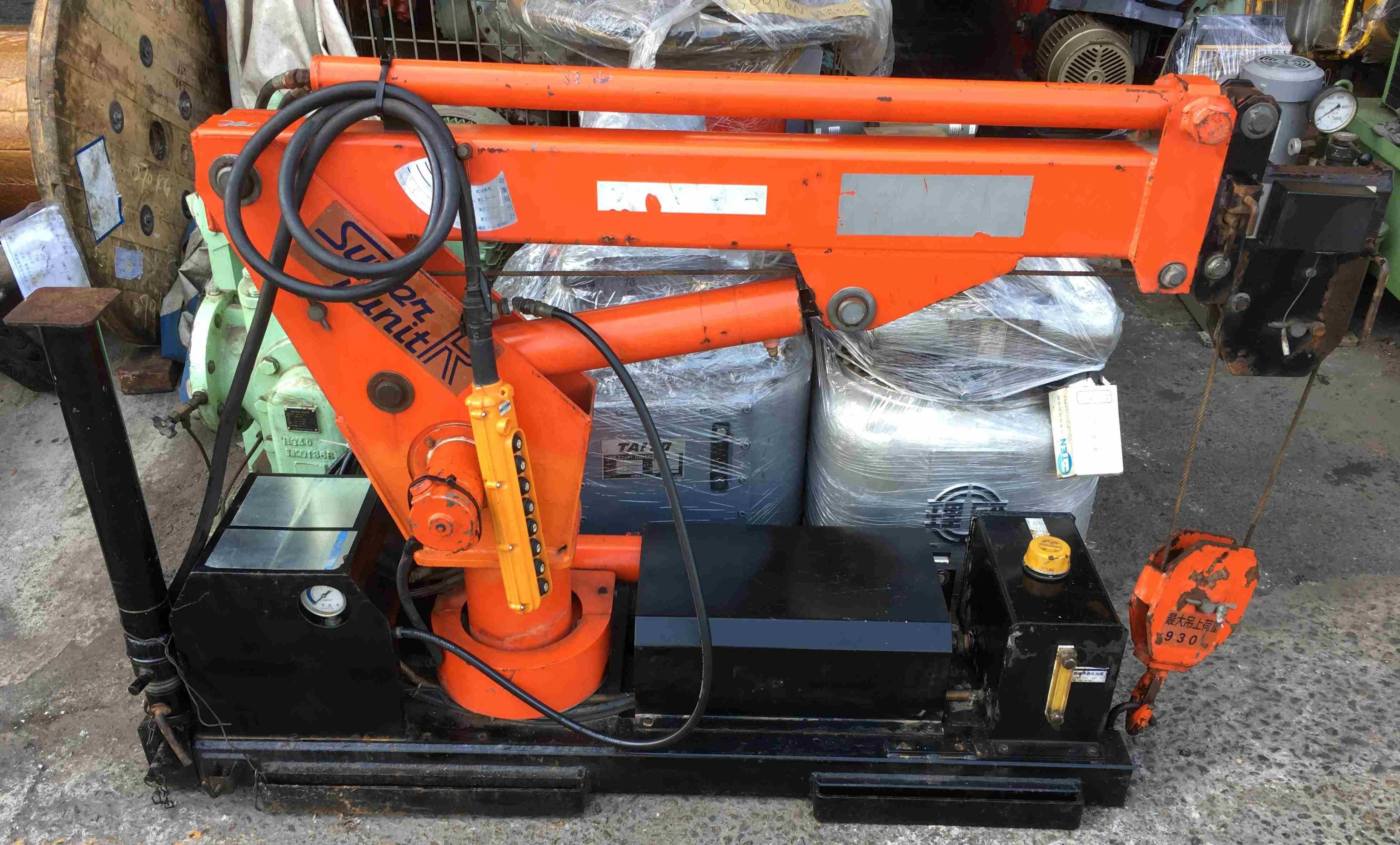 日本F-MAC 油壓吊桿 3噸半專用型(930KG吊桿、可延伸3節) 油壓吊車/貨車吊桿(12V電壓接上,即可使用)