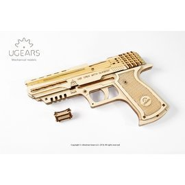 Ugears 沃夫001手槍 烏克蘭自我推進DIY模型 環保木製