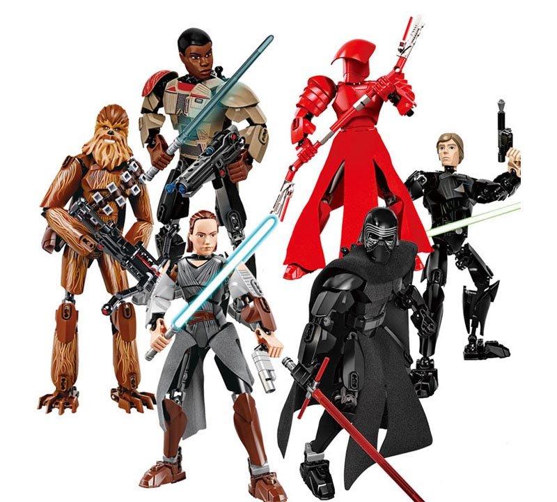 星際大戰系列 黑武士、風暴兵、露西天行者、安納金天行者 - 樂高積木玩具