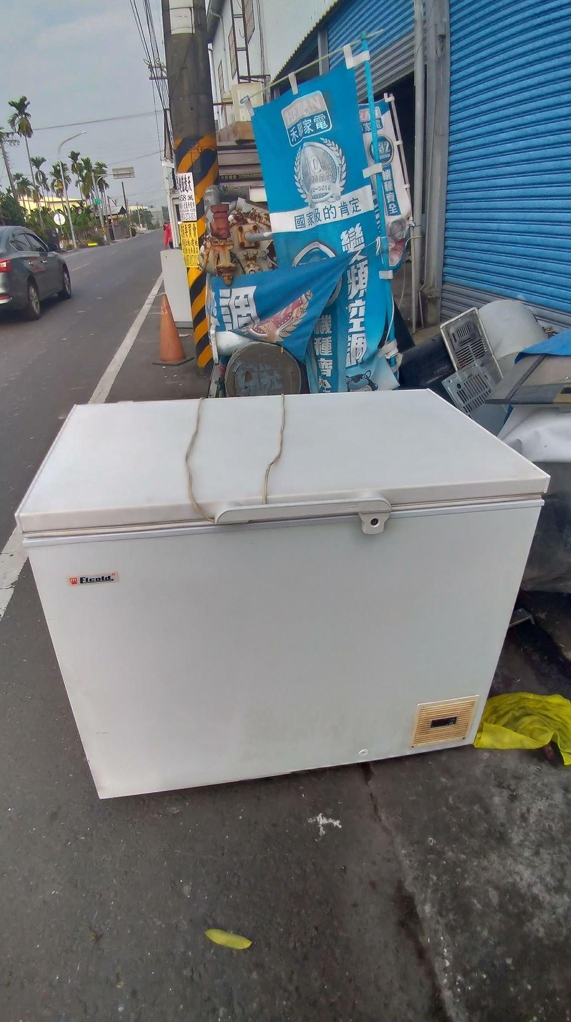 高雄屏東萬丹電器醫生中古二手  3.5尺上掀式冷凍櫃 負45度 自取價16500
