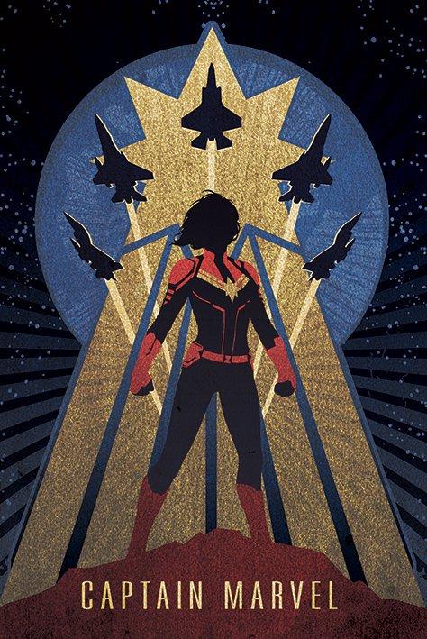 英國 海報 PP34472( 漫威 Marvel 驚奇隊長Captain Marvel (Deco))