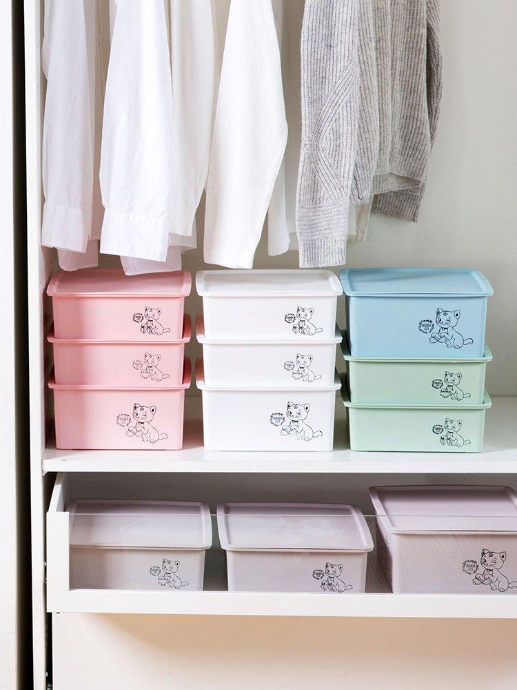 收納 家用塑料衣柜內衣收納盒抽屜內衣褲整理盒桌面文胸內褲襪子收納箱