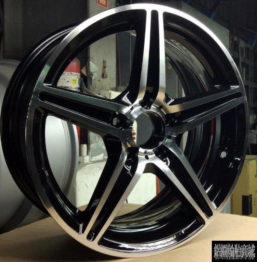 【CS-8722】全新鋁圈 類 AMG 17吋 5孔112 黑底車亮面 C300 W204 W203 W211 W246
