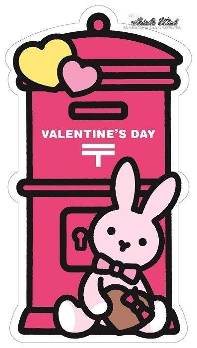 Ariel #x27 s Wish-超可愛2017 郵便局 發售款情人節愛心兔兔蝴蝶結粉紅色郵筒 郵筒明信片卡片