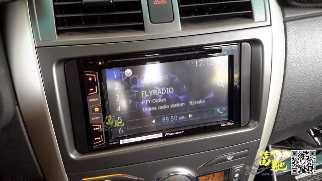 富馳汽車音響 TOYOTA ALTIS改裝先鋒AVH-X2750BT 高音質車用DVD影音主機