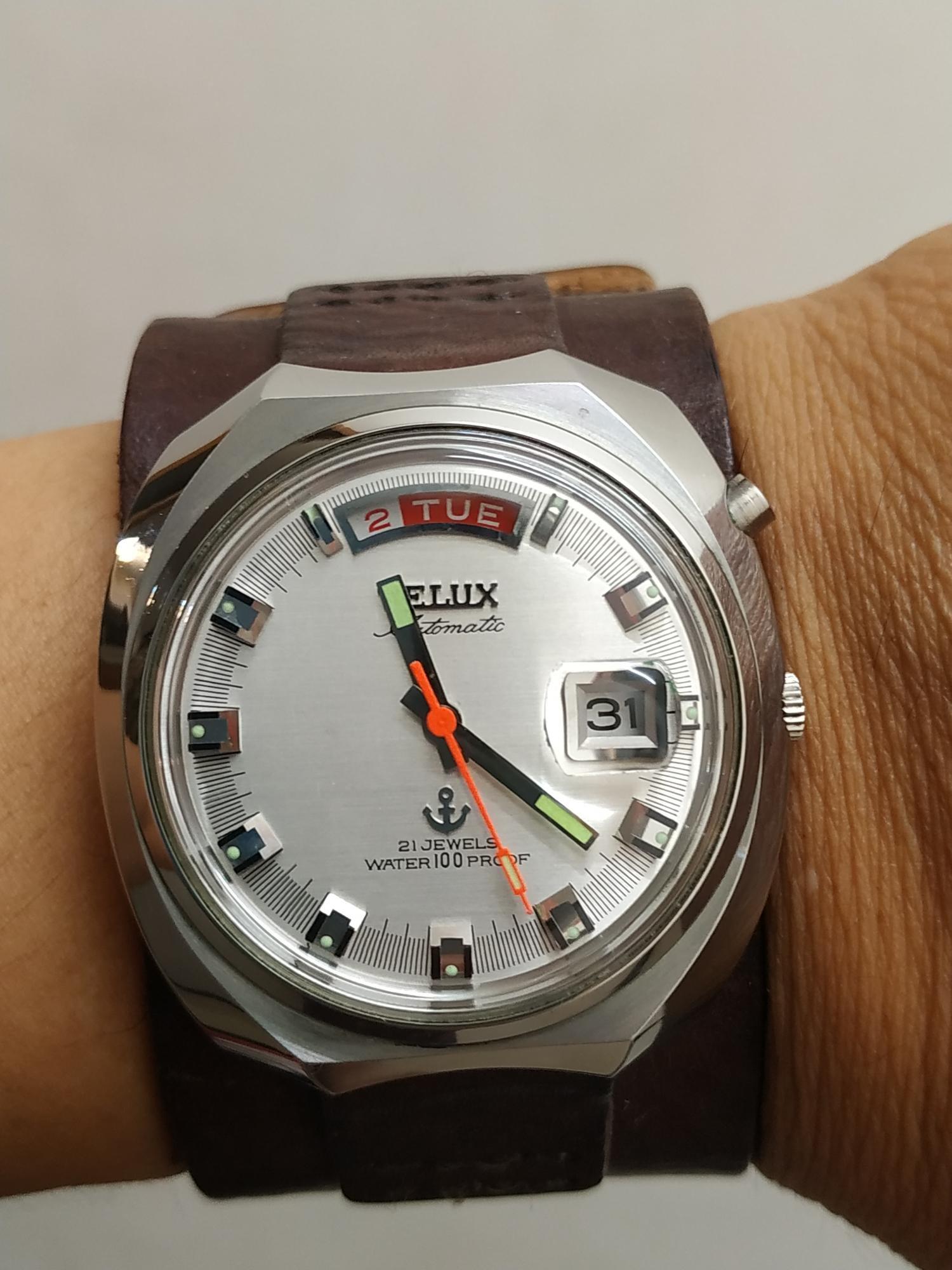 Telux 鐵力士 古早 機械錶 拆機保養 拋光都做好了 用fossil