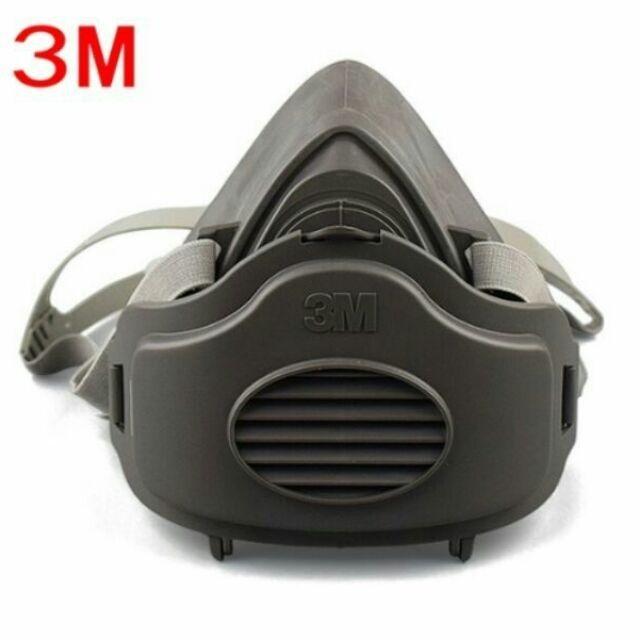 綸綸 3M 3200防塵口罩(速出貨)3m仿偽標籤3200 主体+ 5片棉 面具粉塵工業打磨煤礦裝修灰塵透氣水泥面罩可洗