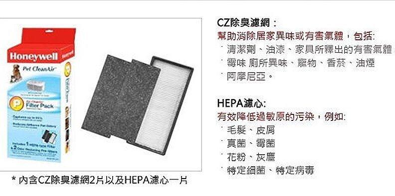 Honeywell空氣清淨機 HEPA CZ濾網組 HRF~CP2   HHT~013AP