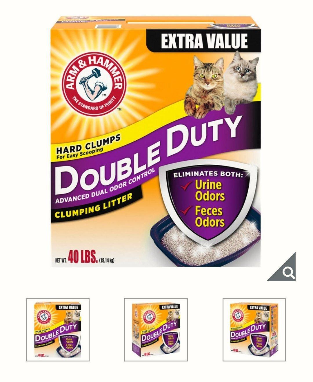 (含運只要479元)ARM & HAMMER 鐵鎚牌 加強除臭貓砂 18.14公斤/添加小蘇打粉消除臭味,無粉塵/好市多代購,下單前請一定要先問有沒有貨