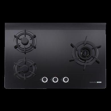 【歐雅系統 】櫻花 SAKURA G2932AGB三口雙炫火玻璃檯面爐