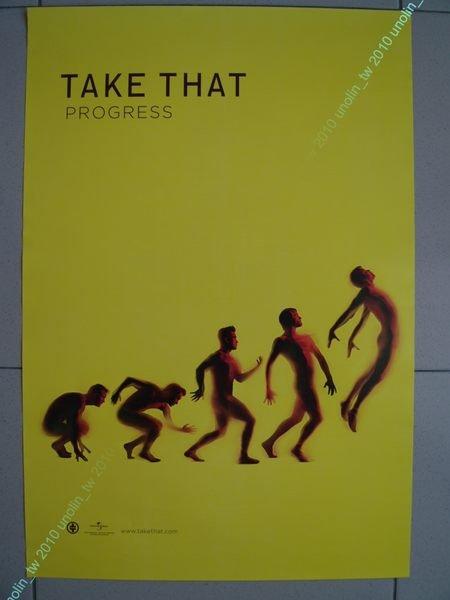 海報滿3張免運~接招合唱團 Take That【接招進化論 Progress】英國偶像團體專輯 宣傳~ 免競標