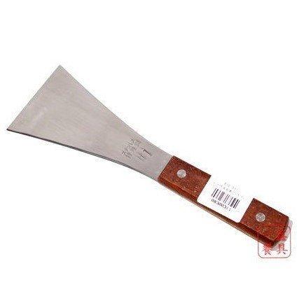 一鑫餐具【木柄清潔鏟 #1】不銹鋼刮刀鐵板煎台刮刀清潔刀
