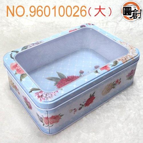 【圓創烘焙包裝、 包裝】百艷牡丹開窗鐵盒(L)  紙袋、 、塑膠袋、壓克力訂作