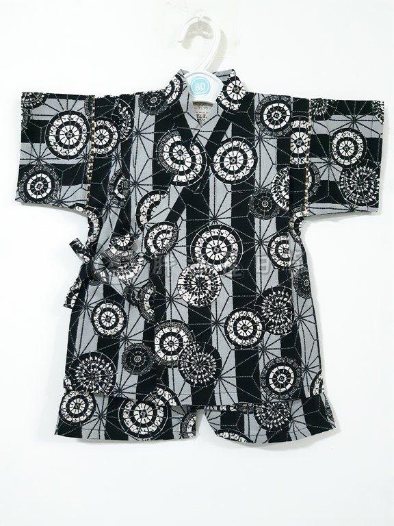 ✪胖達屋日貨✪褲款 95cm 黑色 直紋 和傘 日本 男 寶寶 兒童 和服 浴衣 甚平 抓周 收涎 攝影
