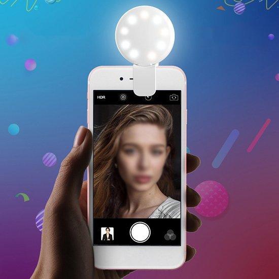 現貨  自拍燈 LED燈 手機燈 手機 補光 燈光鏡頭 自拍 USB充電  美顏 ❃彩虹小舖❃【P092】美顏手機補光燈