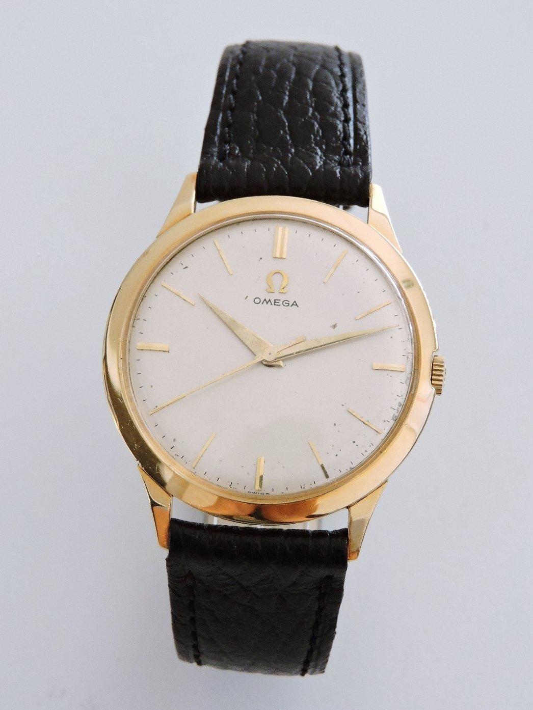 正14K金 OMEGA 歐米茄 經典(420)2方位調校手上鍊古董機械男錶 女錶 中性錶