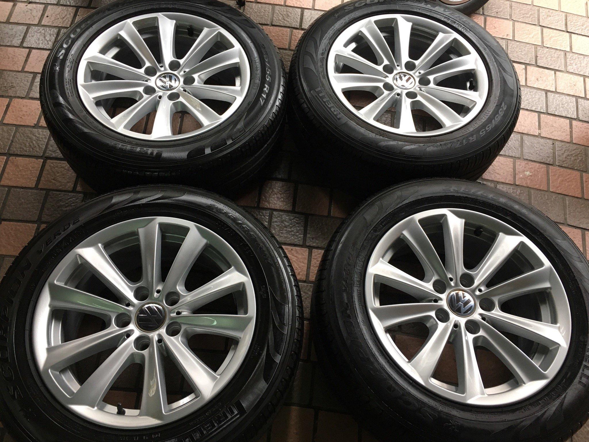 BMW 原廠17吋鋁圈含胎 E36 E46 E90 E87 F30 F10 E34 E39 福斯 VW t5 T6