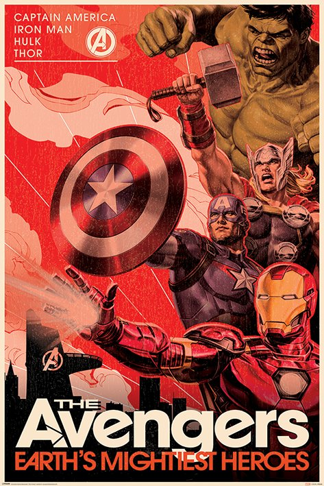 英國 海報 PP34480 (復仇者聯盟 Avengers (Golden Age Hero Propaganda))