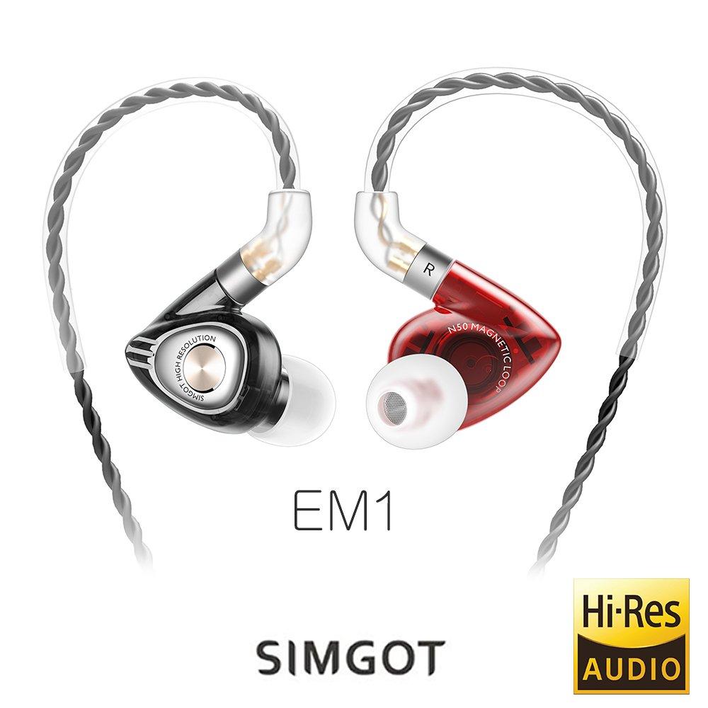 【音樂趨勢】SIMGOT EM1 洛神系列動圈入耳式耳機-紅黑色