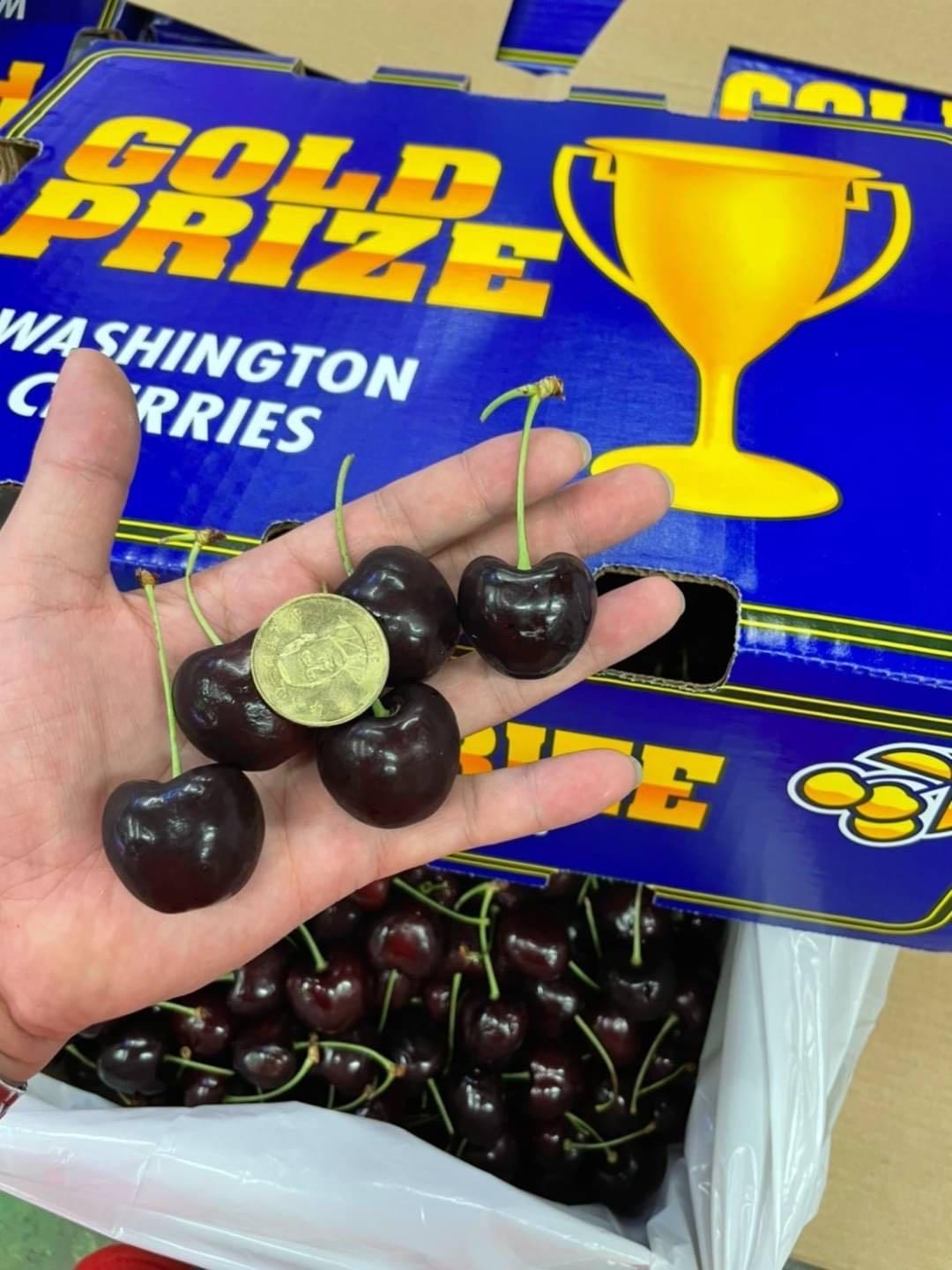 *低溫免運*嚴選特級*2021櫻桃界的LV 美國華盛頓Gold Prize金盃櫻桃9ROW 2kg/5kg/9kg原裝箱 (低溫免運/廠商直送)(2kg下標區)