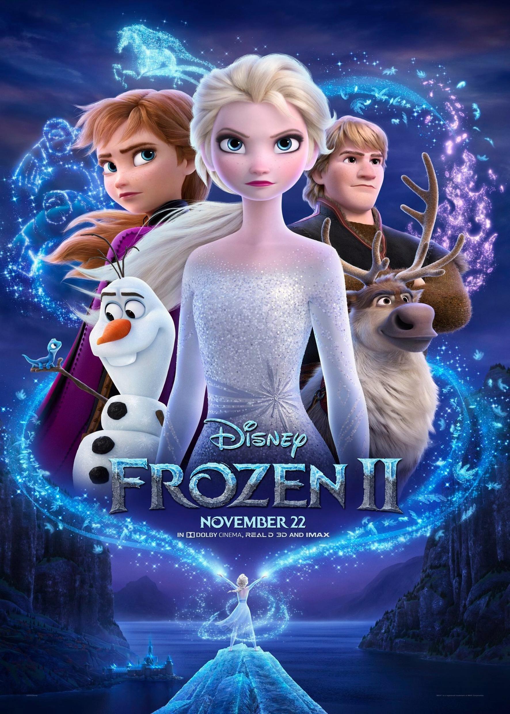 (電影海報) 冰雪奇緣2 2019 迪士尼 艾莎 安娜 阿克 雪寶 小斯 好萊塢 動畫 卡通 兒童 伊登娜 安格納