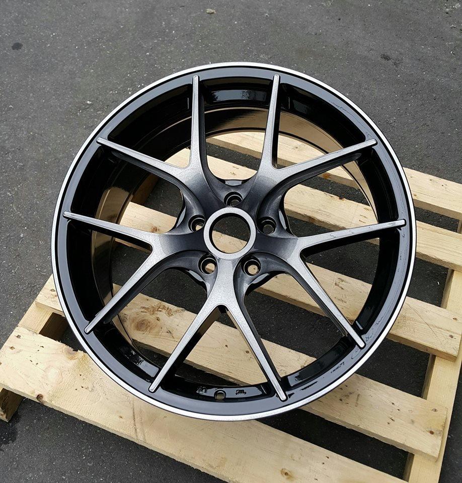 RSM RB01 19吋鋁圈 黑底側銑黑透面 5孔108 5孔112 5孔114.3 5孔120  完工價