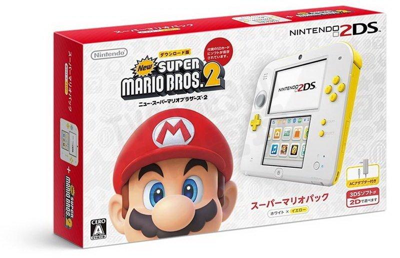 任天堂 Nintendo 2DS 主機 日規機 超級瑪利歐2 限定主機 含遊戲 (附原廠充電器+保護貼)【台中恐龍電玩】