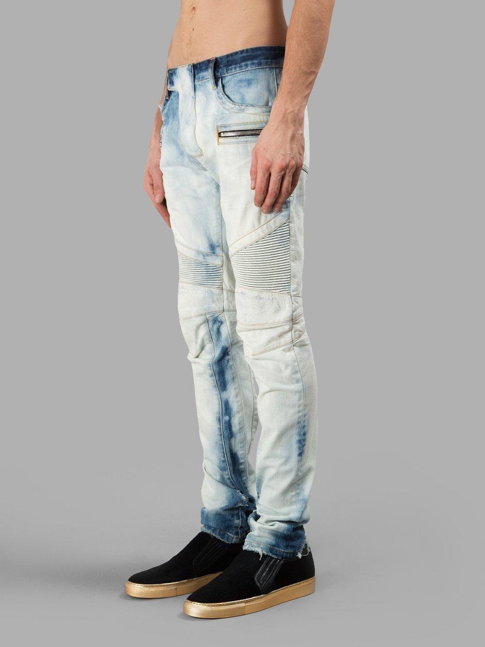 現貨.Balmain 限量漸層藍染牛仔褲.日本製