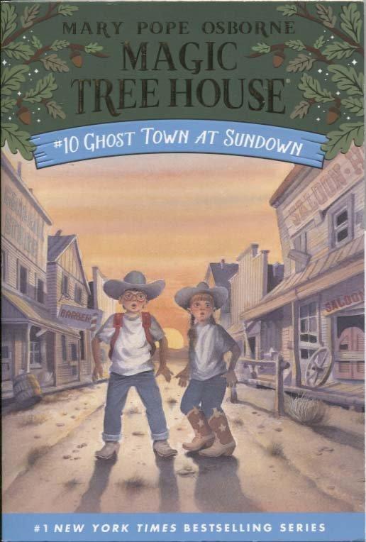 蒼穹書齋: 九成新 泛黃 書背磨破損\Ghost Town at Sundown\Random House\滿額享優惠