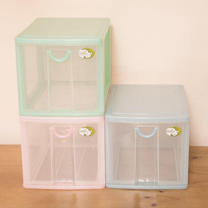【1層小物收納架】5L 單層櫃 連環細縫櫃 收納箱 置物櫃 抽屜整理箱 分類箱 抽屜櫃AD521[金 ]