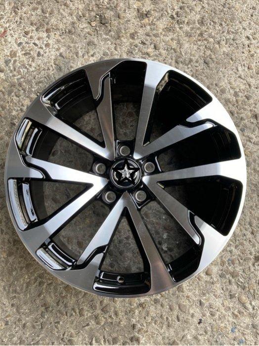 全新TOYOTA CROSS原廠式樣 18吋5/114.3黑底灰底車面鋁圈