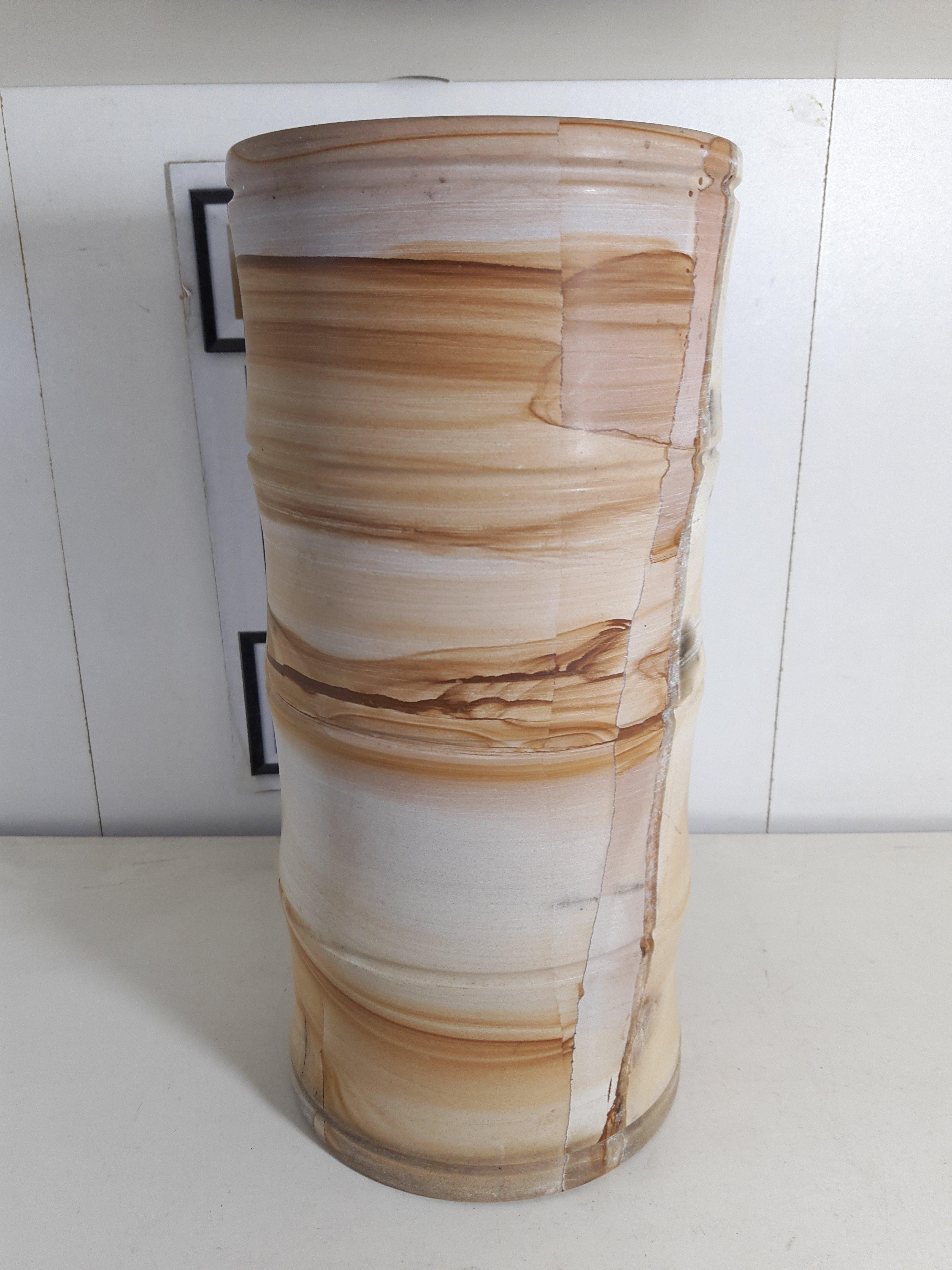 [清倉] 藏澐閣 - 當代竹節大型石筆筒