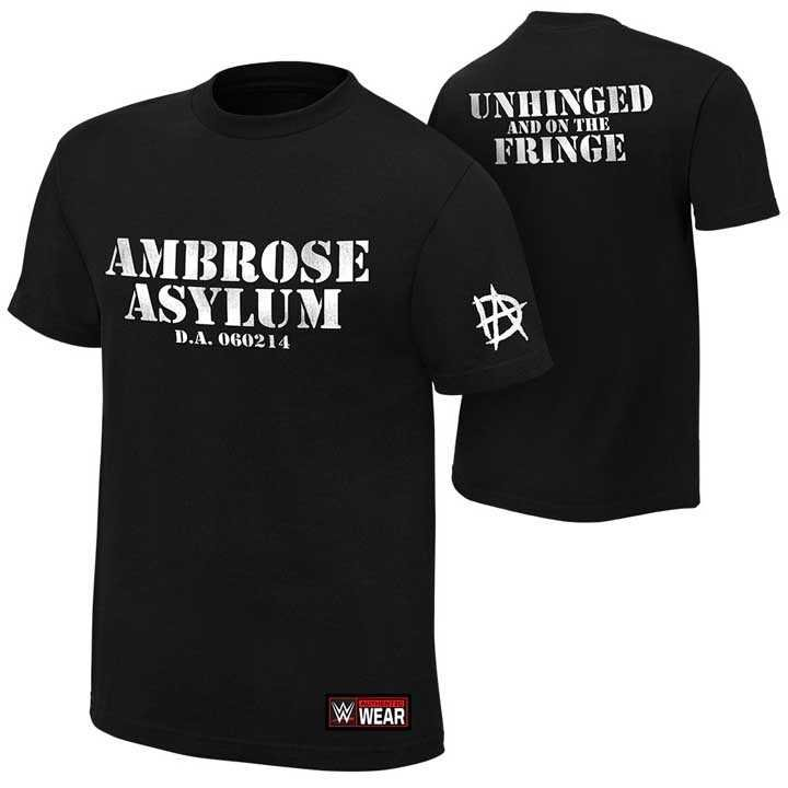 WWE摔角衣服Dean Ambrose Unhinged and on the Fringe 迪安精神錯亂的邊緣短袖T恤