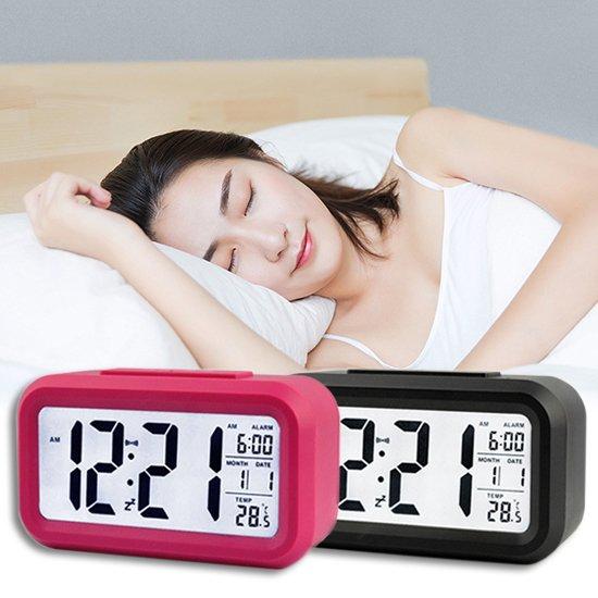 Color_me【P014】溫度顯示電子鐘 LED鬧鐘 時鐘 鬧鐘 靜音時鐘 電子鐘 溫度計 日期 床頭燈 光感鬧鐘 貪