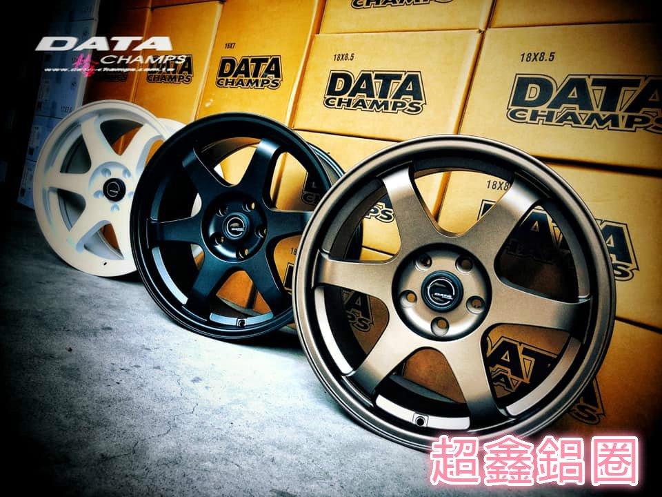 超鑫鋁圈 DATA M6 16吋鋁圈 4孔100 古銅色 白色 平光黑 7J 類 TE37 經典款