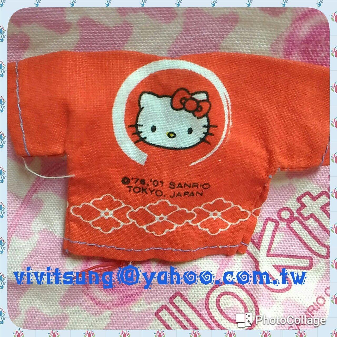 sanrio2001年 珍藏品**Hello Kitty迷你和風衣* ㊣