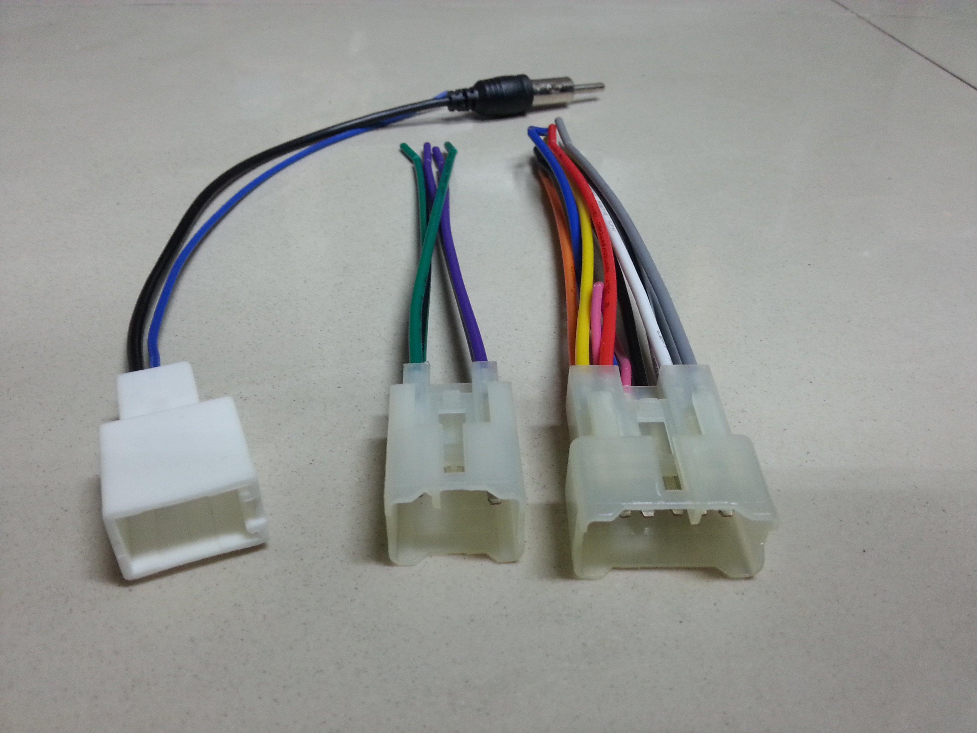 TOYOTA-WISH-ALTIS-VIOS-CAMRY原廠主機線組 電源線組 喇叭線組 天線 母插頭不用剪線