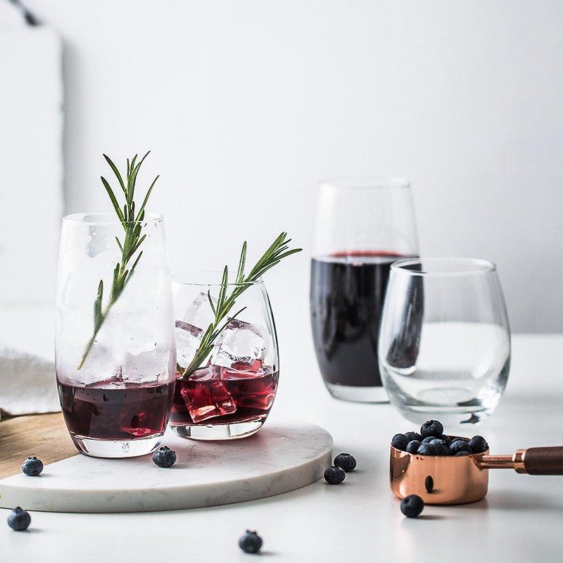 衣萊 -日式ins同款思慕雪杯 橢圓玻璃杯 酸奶杯慕斯杯 果汁杯 玻璃水杯