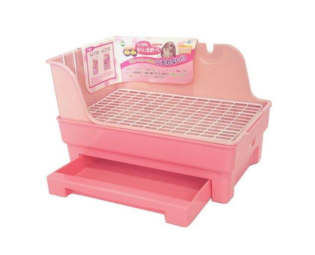 MARUKAN 粉紅兔 小動物愛兔便盆 天竺鼠便盆 貂便盆 兔尿盆 兔廁所 MR-381(含消臭砂)每件750元