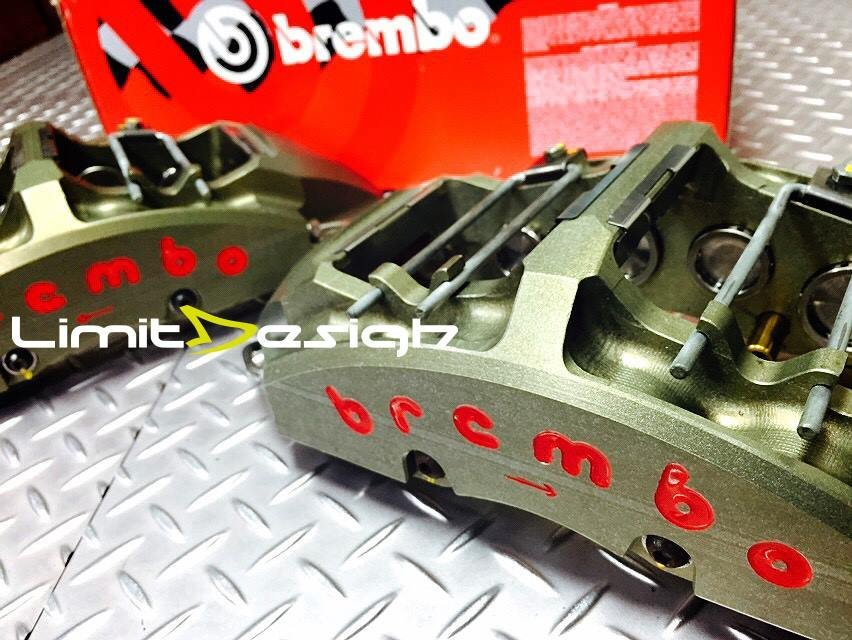 Brembo racing GT-R cnc一體式對八切削卡鉗 (ap.alcon.endless.)