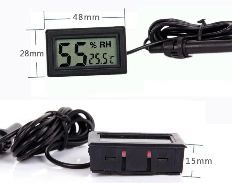 紅舖子 -- 8011鑲入式帶探頭溫濕度計室內溫度計高精度家用 精準溫濕度表