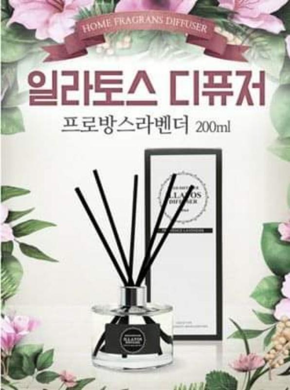 現貨:韓國 ILLATOS 精油擴香瓶 200ml /(1入),多款香味任選 / Q-10
