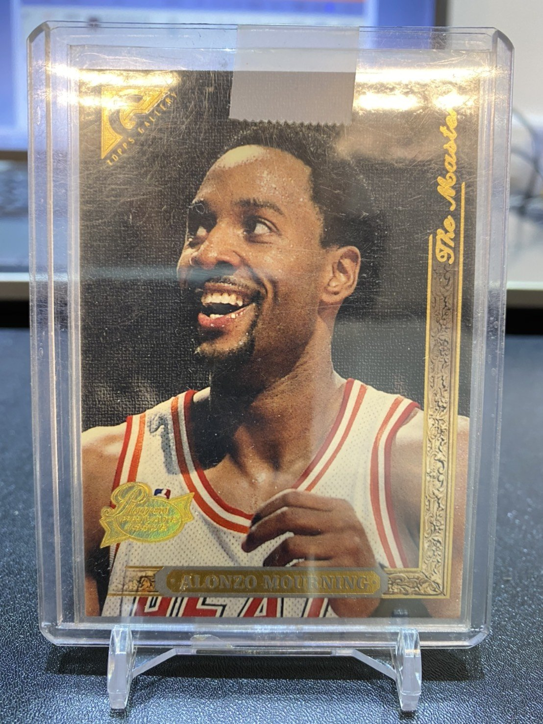 1995-96 TOPPS GALLERY PLAYERS PRIVATE ISSUE ALONZO MOURNING